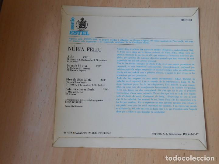 Discos de vinilo: NÚRIA FELIU, EP, ALFIE + 3, AÑO 1967 - Foto 2 - 195306111