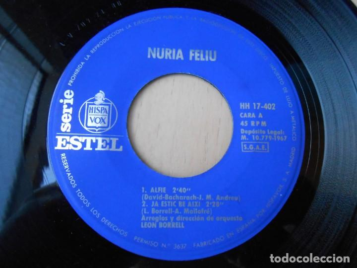Discos de vinilo: NÚRIA FELIU, EP, ALFIE + 3, AÑO 1967 - Foto 3 - 195306111