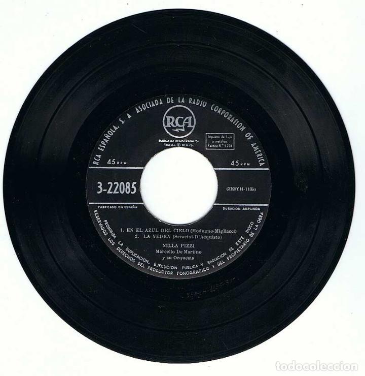 Discos de vinilo: Festival de San Remo 1958. Nilla Pizzi canta En el Azul del Cielo + 3. EP - Foto 3 - 195306121