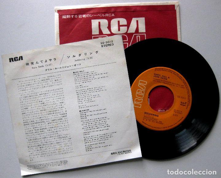 Discos de vinilo: Daryl Hall & John Oates - Sara Smile - Single RCA 1976 Japan (Edición Japonesa) BPY - Foto 2 - 195306268