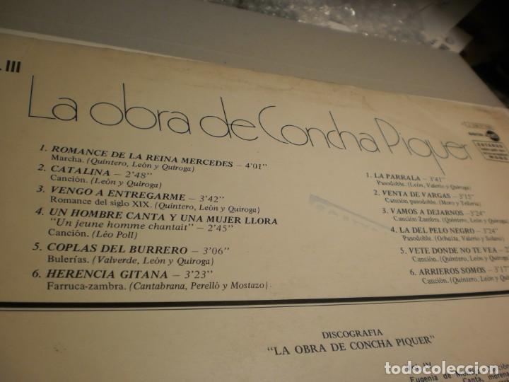 Discos de vinilo: lp concha piquer. regal emi 1975 spain (probado y bien, buen estado) - Foto 3 - 195307843