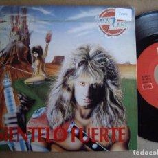 Discos de vinilo: MANZANO SG 7'' SIENTELO FUERTE PROMOCIONAL GBBS 1988 EX-/EX. Lote 195308781
