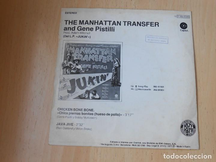 Discos de vinilo: MANHATTAN TRANSFER, THE, SG, CHICKEN BONE BONE + 1, AÑO 1977 - Foto 2 - 195309771