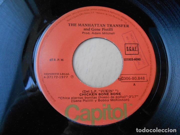Discos de vinilo: MANHATTAN TRANSFER, THE, SG, CHICKEN BONE BONE + 1, AÑO 1977 - Foto 3 - 195309771