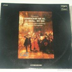 Discos de vinilo: MOZART - SYMPHONIE NR.40, G-MOLL, KV 550 - MAGNA CLASSIC 1978. Lote 195310071