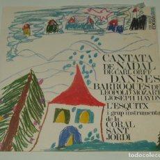 Discos de vinilo: L'ESQUITX / CORAL SANT JORDI - CANTATA DE NADAL / DANSES BARROQUES - EDIGSA 1968. Lote 195310486