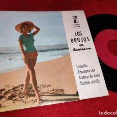 Discos de vinilo: LOS BRUJOS LAZARILLO/RAPIDAMENTE/A PESAR DE TODO/ESTABA ESCRITO EP 1962 ZAFIRO BENIDORM. Lote 195313916