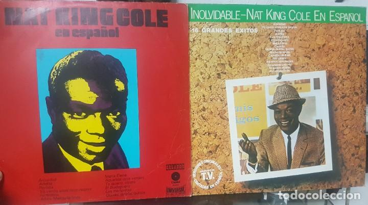 LOTE DE 2 LPS DE NAT KING COLE EN ESPAÑOL - UNO DEL CIRCULO DE LECTORES - SOUL BLUES - MIRAR FOTOS (Música - Discos - LP Vinilo - Jazz, Jazz-Rock, Blues y R&B)