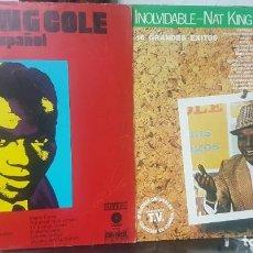 Discos de vinilo: LOTE DE 2 LPS DE NAT KING COLE EN ESPAÑOL - UNO DEL CIRCULO DE LECTORES - SOUL BLUES - MIRAR FOTOS. Lote 195315963