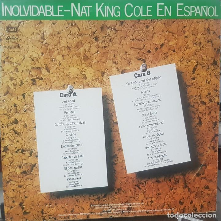 Discos de vinilo: Lote de 2 LPs de Nat King Cole en Español - Uno del Circulo de Lectores - Soul Blues - Mirar fotos - Foto 3 - 195315963