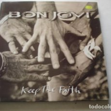 Discos de vinilo: BON JOVI KEEP THE FAITH. Lote 195316243