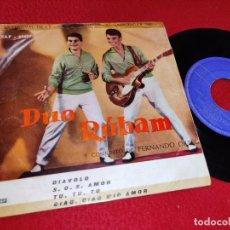 Discos de vinilo: DUO RUBAM DIAVOLO/S.O.S. AMOR/TU TU TU/CIAO CIAO MIO AMOR EP 1960 SAEF. Lote 195316985