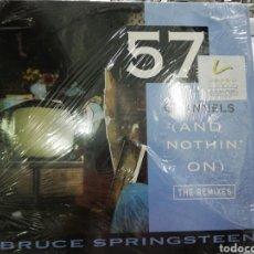 Discos de vinilo: BRUCE SPRINGSTEEN MAXI 57 CHANNELS THE REMIXES U.S.A. 1992. Lote 195317057