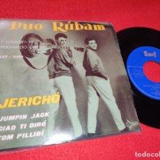 Discos de vinilo: DUO RUBAM&FERNANDO ORTEU JERICHO JERICO/JUMPIN JACK/CIAO TI DIRO/TOM PILLIBI EP 1960 SAEF. Lote 195317386