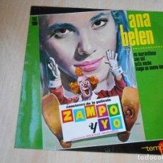 Discos de vinilo: ANA BELÉN - ZAMPO Y YO -, EP, ES MARAVILLOSO + 3, AÑO 1965. Lote 195318156