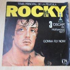 Discos de vinilo: ROCKY - TEMA PRINCIPAL DE LA PELÍCULA -, SG, GONNA FLY NOW + 1, AÑO 1976. Lote 195318995