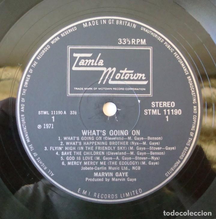 Discos de vinilo: MARVIN GAYE : WHATS GOING ON - EDICION ORIGINAL UK CON PORTADA TEXTURADA + INSERT - STML 11190 - Foto 14 - 195319982