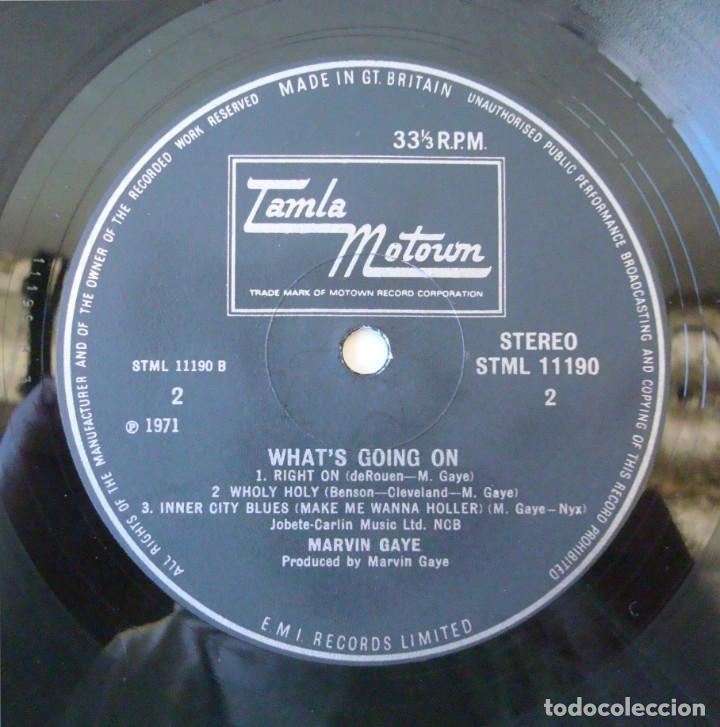 Discos de vinilo: MARVIN GAYE : WHATS GOING ON - EDICION ORIGINAL UK CON PORTADA TEXTURADA + INSERT - STML 11190 - Foto 15 - 195319982