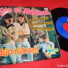 Discos de vinilo: DUO RUBAM ESTO ES MADISON/TWIST A NAPOLI/LECCION DE TWIST/JOHNNY ANGEL EP 1961 SAEF. Lote 195322743