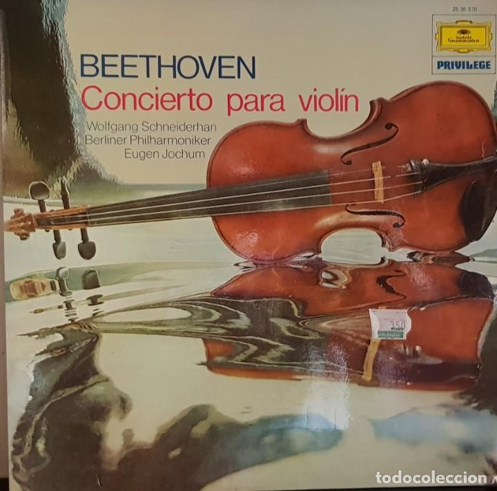 BEETHOVEN CONCIERTO PARA VIOLIN EN RE MAYOR OP. 61 - 1975 (Música - Discos de Vinilo - EPs - Clásica, Ópera, Zarzuela y Marchas)