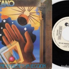 Discos de vinilo: MECANO - NO ME ENSEÑEN LA LECCION - SINGLE DE VINILO PROMO GRABADO SOLO POR UNA CARA #. Lote 195330056