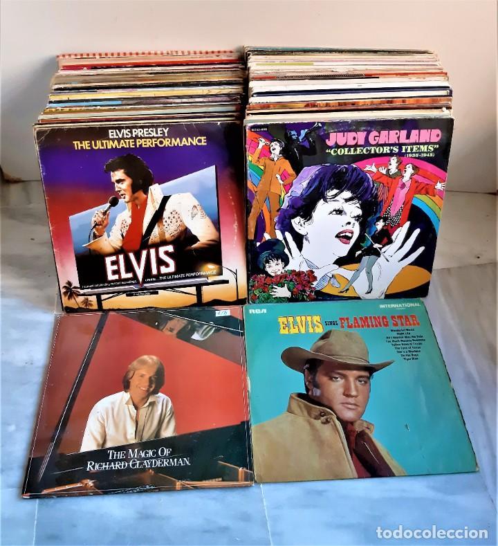 SUPER LOTE DE MAS DE 100 LP`S DISCOS DE VINILO 33.RPM VARIOS ARTISTAS Y ESTILOS (VER IMAGENES) (Música - Discos - Singles Vinilo - Otros estilos)