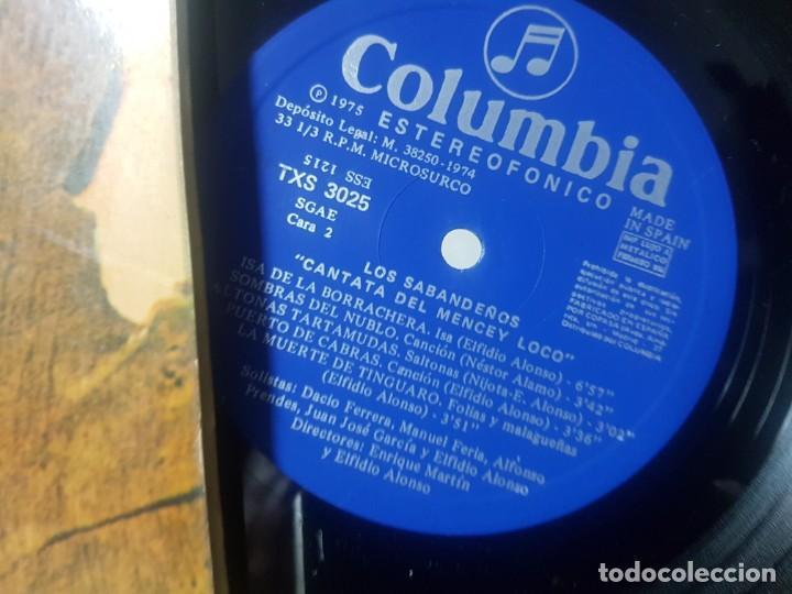 Discos de vinilo: Los Sabandeños - La cantata del Mencey loco - Folklore canario - Carpeta doble - Columbia 1975 Bien - Foto 5 - 195331950