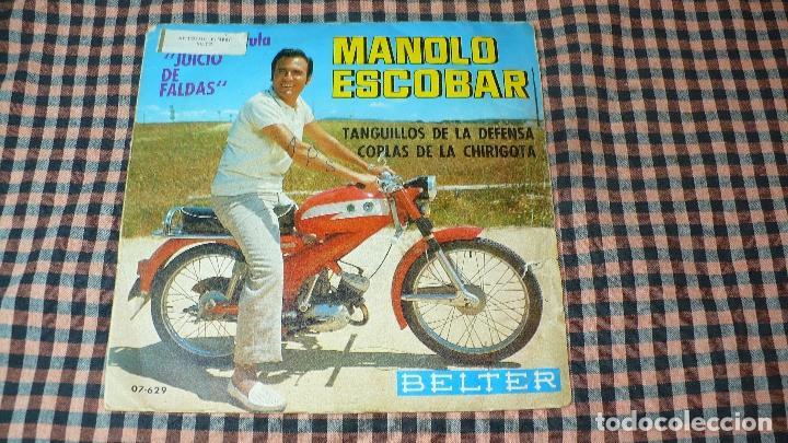 MANOLO ESCOBAR DE LA PELICULA JUICIO DE FALDAS - TANGUILLOS DE LA DEFENSA / COPLAS DE LA CHIRIGOTA. (Música - Discos - Singles Vinilo - Flamenco, Canción española y Cuplé)
