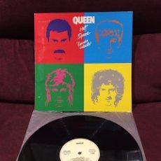 Discos de vinilo: QUEEN - HOT SPACE=ESPACIO CALIENTE LP, REEDICIÓN, 1986, ESPAÑA, EDICIÓN RARA Y DIFÍCIL!!. Lote 195333603