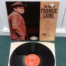Discos de vinilo: THE BEST OF FRANKIE LAINE 1967 LP UK ORIGINAL HALLMARK HM 515 COUNTRY. Lote 195336290