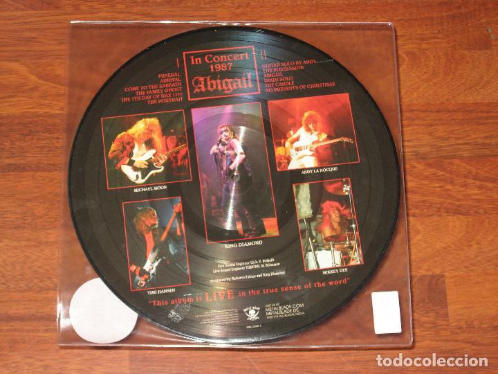 Discos de vinilo: (sin abrir) king diamond - ABIGAIL IN CORCERT 1987 ___ PICTURE DISC LIMITADO A 2000 COPIAS - Foto 2 - 195338948