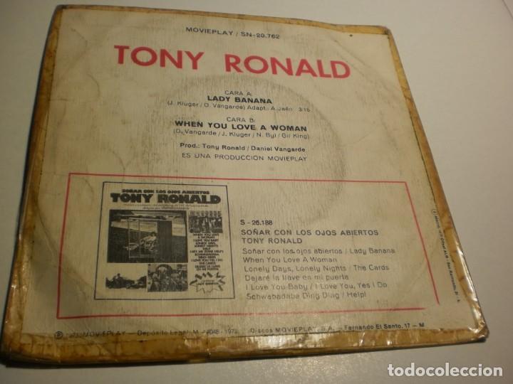 Discos de vinilo: single tony ronald. lady banana. when you love a woman. movie play 1973 spain (probado y bien) - Foto 2 - 195339241