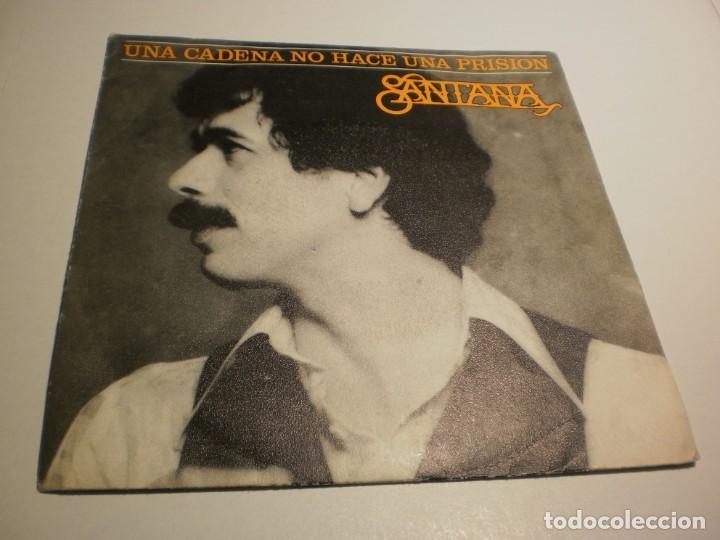 SINGLE CARLOS SANTANA. UNA CADENA NO HACE UNA PRISIÓN. WHAM. CBS 1978 SPAIN (PROBADO Y BIEN) (Música - Discos - Singles Vinilo - Pop - Rock - Extranjero de los 70)