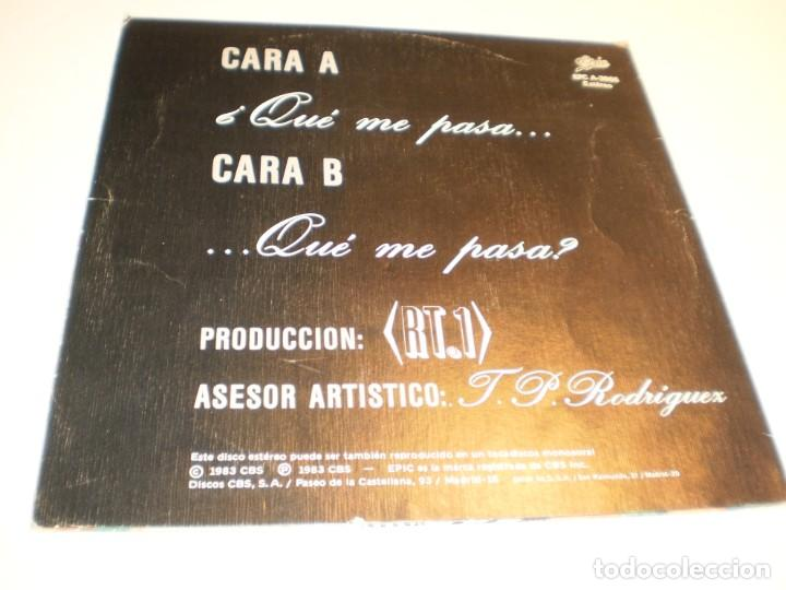 Discos de vinilo: single vicio latino. qué me pasa. epic 1983 spain (probado y bien) - Foto 2 - 195340068