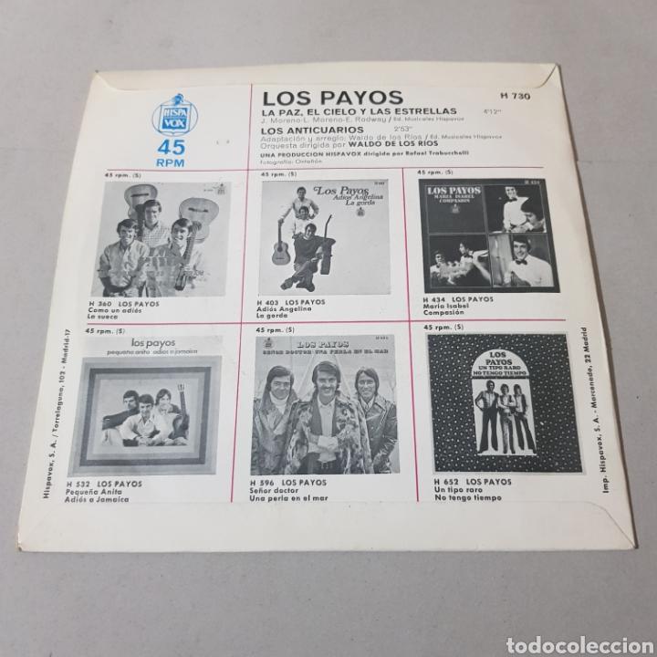Discos de vinilo: LOS PAYOS - EL CIELO Y LAS ESTRELLAS - LOS ANTICUARIOS - Foto 2 - 195340532