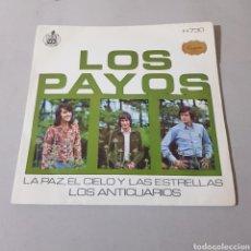 Discos de vinilo: LOS PAYOS - EL CIELO Y LAS ESTRELLAS - LOS ANTICUARIOS. Lote 195340532