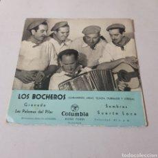 Discos de vinilo: LOS BOCHEROS - GRANADA - LAS PALOMAS DEL PILAR- SOMBRAS - SUERTE LOCA - COLUMBIA. Lote 195340672