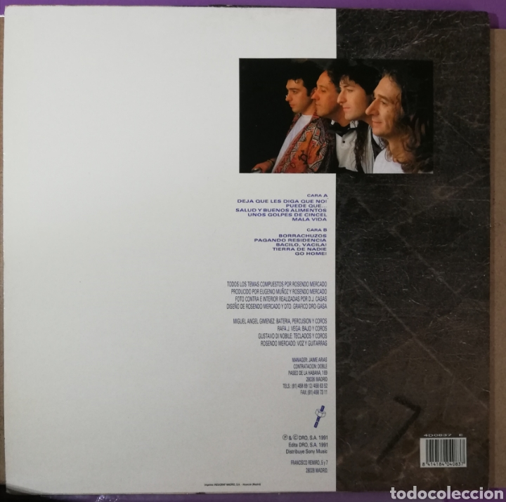 Discos de vinilo: Disco vinilo Rosendo-Deja que les diga que no!. - Foto 2 - 195341332
