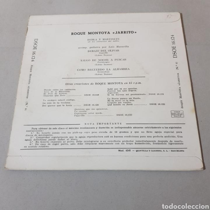Discos de vinilo: EL CANTE DE ROQUE MONTOYA ( JARRITO ) - Foto 2 - 195342505