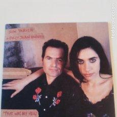Discos de vinilo: PJ HARVEY & JOHN PARISH THAT WAS MY VEIL / LOSING GROUND ( 1996 ISLAND UK ) P.J. EXCELENTE ESTADO. Lote 195347208