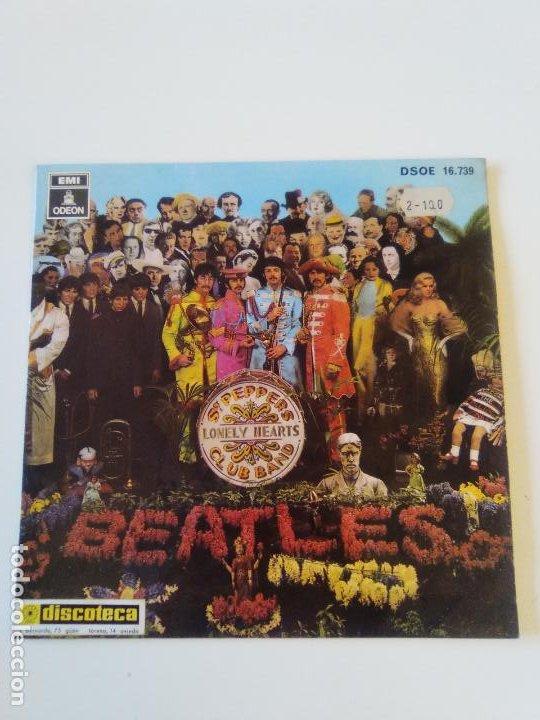 THE BEATLES WITH A LITTLE HELP FROM MY FRIENDS + 3 ( 1968 EMI ODEON ESPAÑA ) MUY RARO (Música - Discos de Vinilo - EPs - Pop - Rock Extranjero de los 50 y 60)