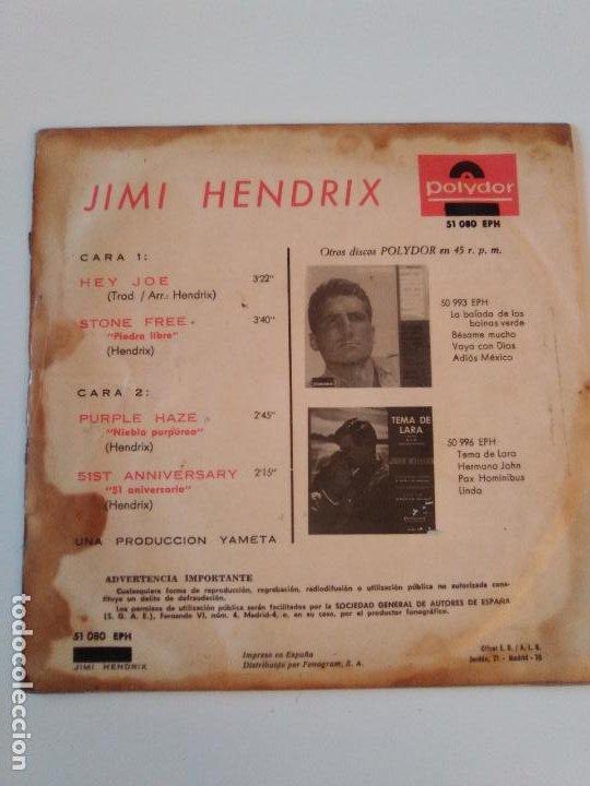 Discos de vinilo: JIMI HENDRIX Hey Joe Stone Free Purple haze 51 Anniversary ( 1967 POLYDOR ESPAÑA ) - Foto 2 - 195347357