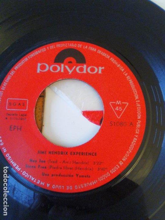 Discos de vinilo: JIMI HENDRIX Hey Joe Stone Free Purple haze 51 Anniversary ( 1967 POLYDOR ESPAÑA ) - Foto 4 - 195347357