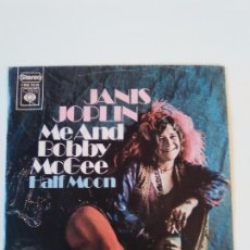 Discos de vinilo: JANIS JOPLIN ME AND BOBBY MCGEE / HALF MOON ( 1971 CBS HOLLAND ). Lote 195347400