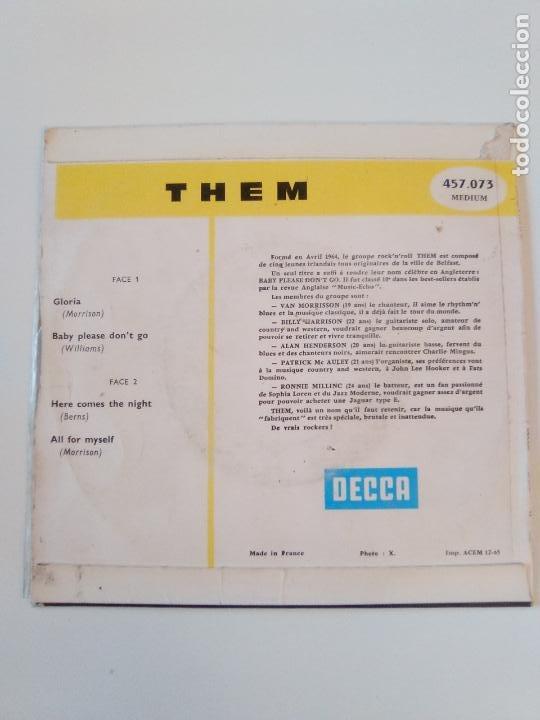 Discos de vinilo: THEM VAN MORRISON Gloria Baby please dont go Here comes the night All for myself ( 1965 DECCA FRANCE - Foto 2 - 195347550