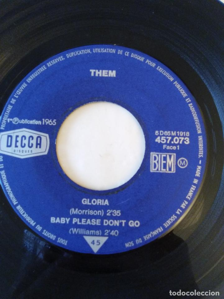 Discos de vinilo: THEM VAN MORRISON Gloria Baby please dont go Here comes the night All for myself ( 1965 DECCA FRANCE - Foto 4 - 195347550