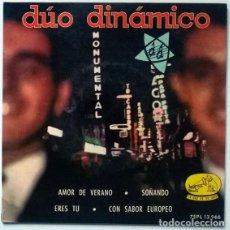 Discos de vinilo: DÚO DINÁMICO. AMOR DE VERANO/ SOÑANDO/ ERES TU/ CON SABOR EUROPEO. EMI-MASTERVOICE, SPAIN 1963 EP. Lote 195356433