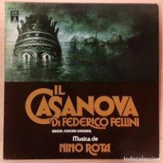 Discos de vinilo: EL CASANOVA DE FELLINI (IL CASANOVA DI FEDERICO FELLINI) NINO ROTA EMI 1977 COMO NUEVO!!. Lote 195359661