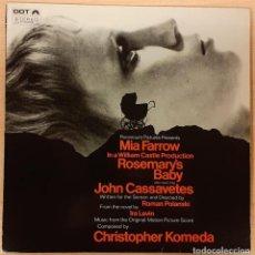 Discos de vinilo: LA SEMILLA DEL DIABLO (ROSEMARY´S BABY) CHRISTOPHER KOMEDA ED. ESPAÑOLA (MUY RARO). Lote 195361140