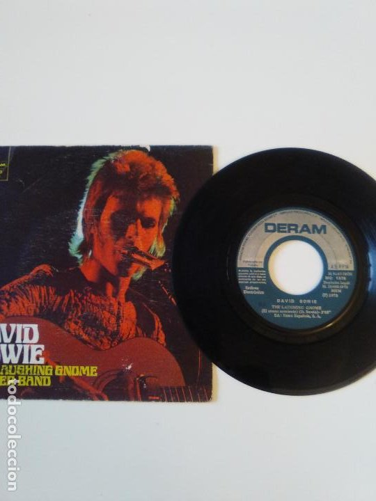 Discos de vinilo: DAVID BOWIE The laughing gnome / Rubber band ( 1973 DERAM ESPAÑA ) - Foto 2 - 195362962